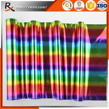 China factory wholesale 3003# 12mic High quality iridescent rainbow hot stamping foil