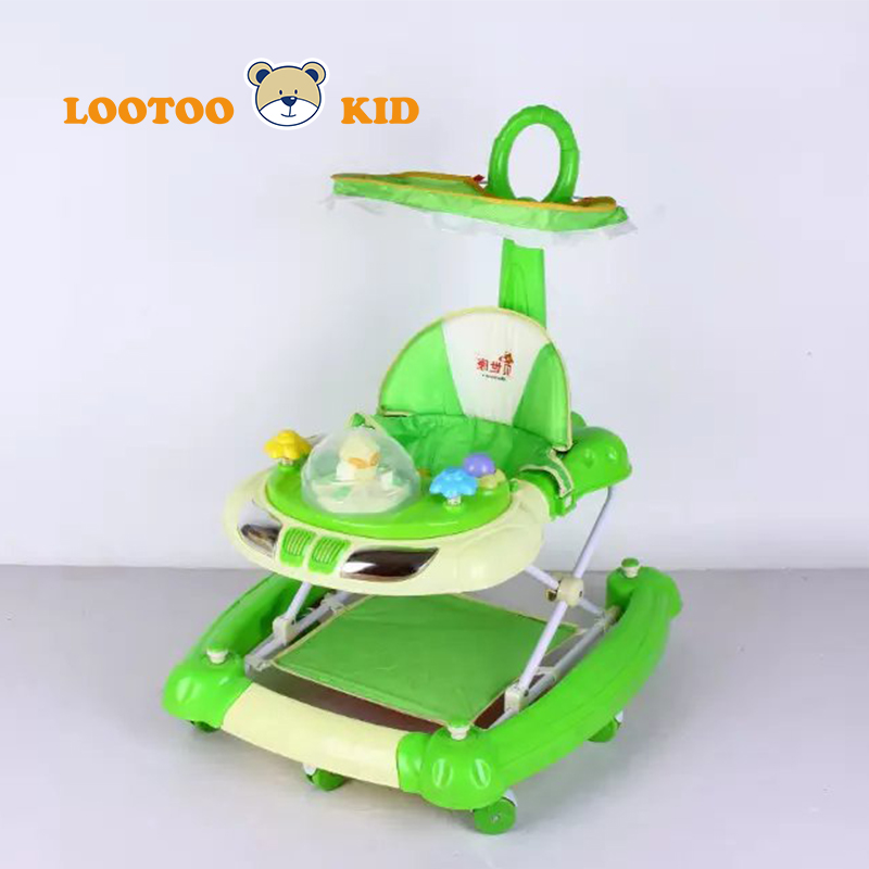 2016 NEW baby walker with music and 7 wheels,cheap plastic kid carrier toys baby walker sale