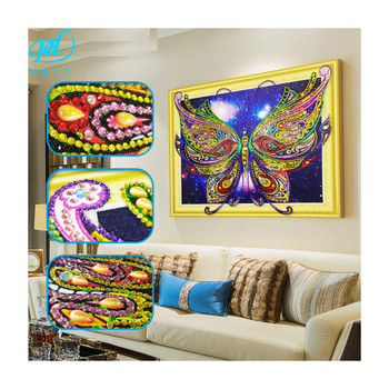 5D Printed Canvas DIY Diamond Paintings Beautiful Stars Butterfly Wall Art For  House Decoration LP018