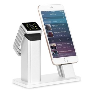 2 In 1 Aluminum holder for Apple Watch, For Apple Watch Charging Dock Stand