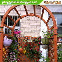 Decorative wooden garden arbor
