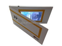 5' LCD Video Greeting Card/LCD Video Brochure/LCD Video Book for advertisement, gift, education