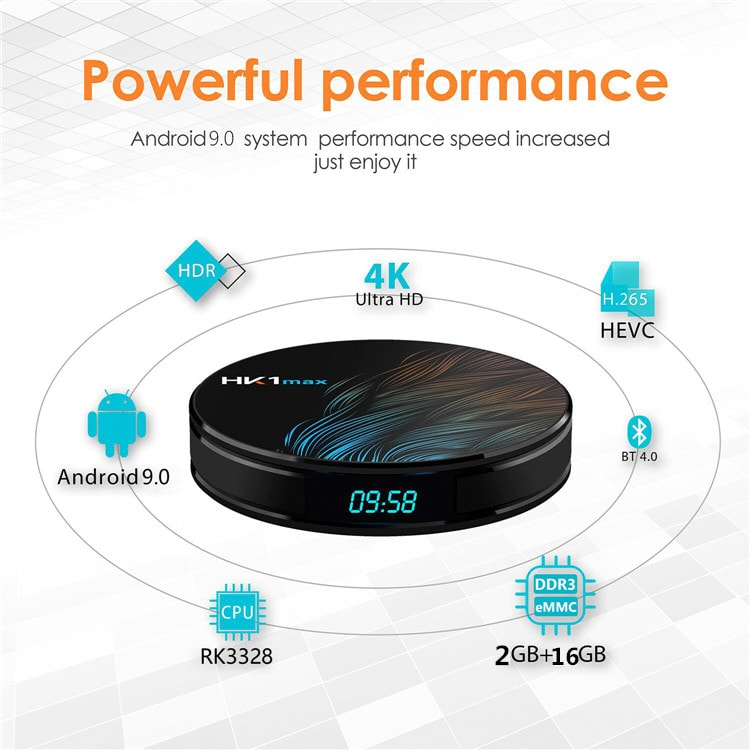 Factory direct HK1 MAX TVBOX  RK3328 2GB 16GB Android tv box 9 streaming media player support 4K