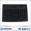 Newest 60 Keys Membrance Keyboard Pos Terminal Keyboard Programmable USB+PS/2 Port