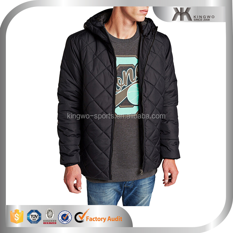 Custom mens quilted puff jacket winter warm jacket