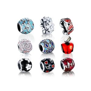 LZESHINE Bulk Charms Wholesale 925 Silver Diy Engraved Charm Beads