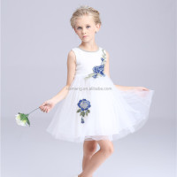 OEM service 2016 new arrival flower sleeveless girls frock designs