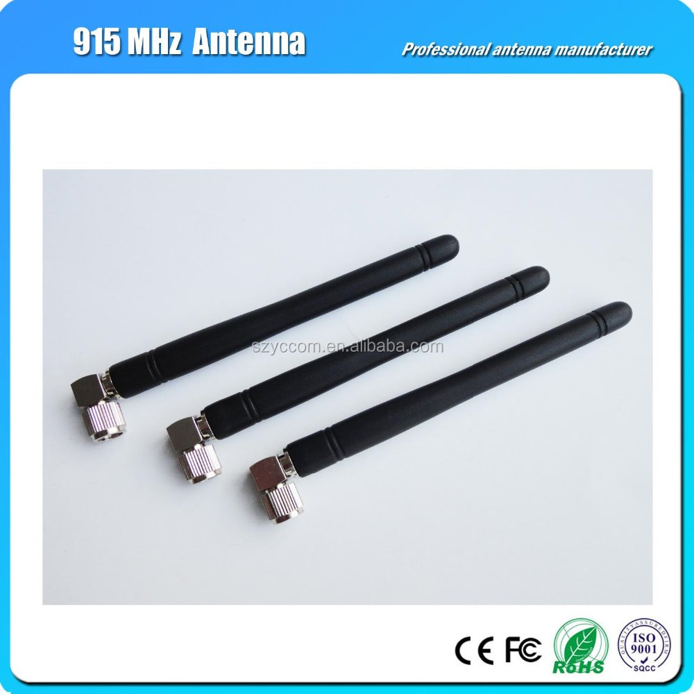 Free Sample 915 MHz Rubber antenna With right angle SMA connector wireless antenna