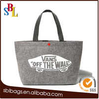 2016 promotional gifts ladies felt casual tote shopping handbags