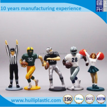 4inch American football pvc figurine, making basketball mini plastic sports figurine, custom hockey game pvc figure