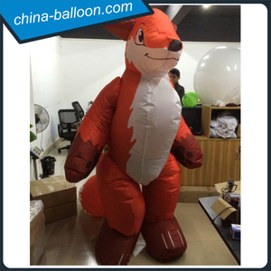 2m height inflatable fox costume/ funny inflatable costume for sale