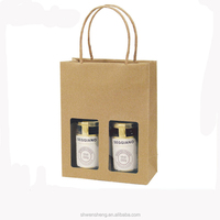 custom very nice good quality kraft paper bag with clear window