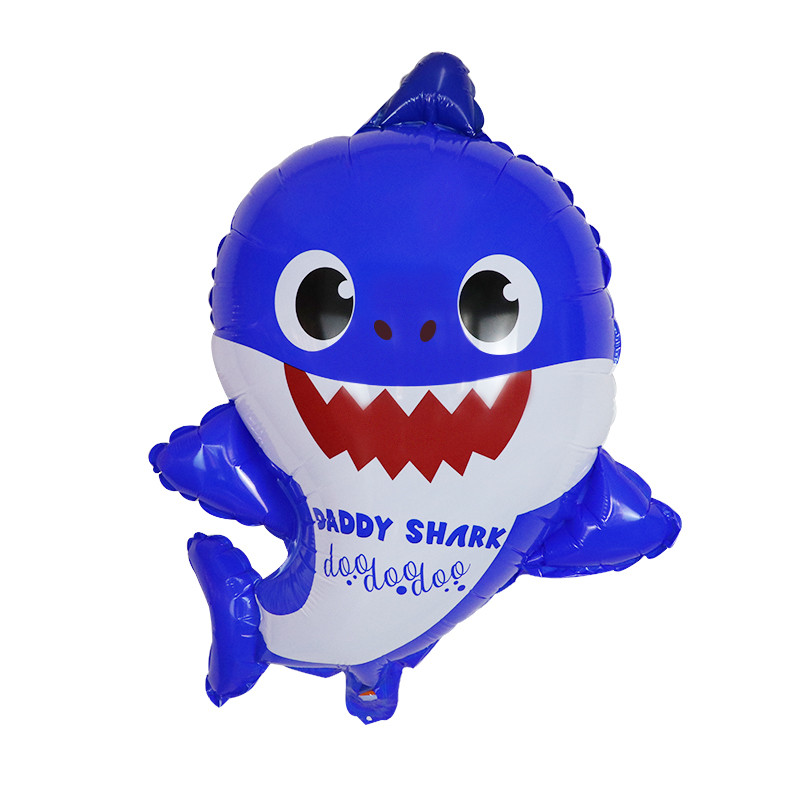 Wholesale Yiwu 54*64cm Shark Family 2019 Family Baby Party Decoration Supplies Shark Foil Balloons