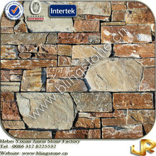 Golden Color Natural Wall Slate Cultured Stones