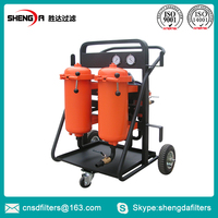 Movable high efficiency industrial oil cleaning machine