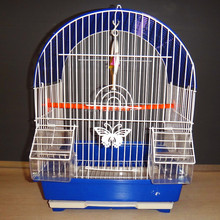 Galvanized, PVC coated bird cage