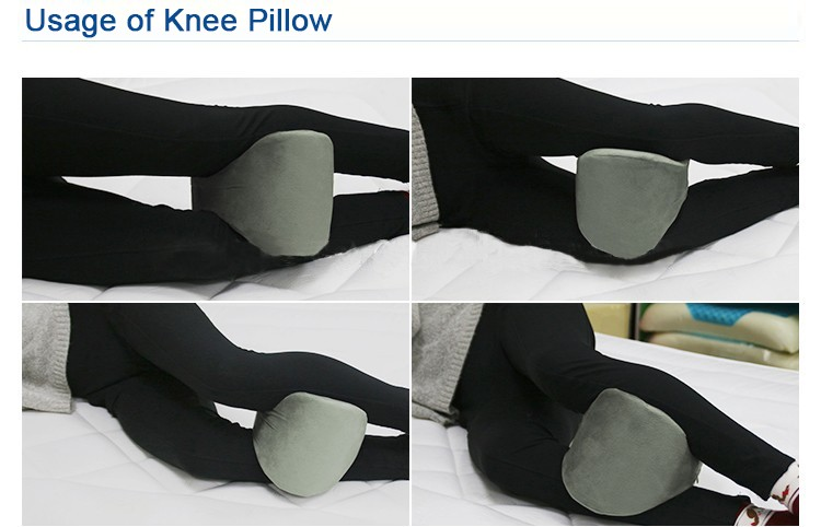Manufacturer Custom Sciatic Nerve Pain Relief Orthopedic Memory Foam Leg Rest Knee Pillow Cushion For Side Sleepers Sleeping