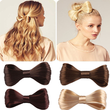 Wholesale Bargain Price Wig Bow Iron Pins Colorful Kanekalon Hair Bow Big Tie Shape Hairpins Accessories For Women