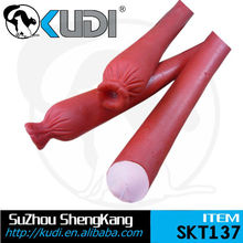 Long sausage-funny squeaky pet toys SKT137
