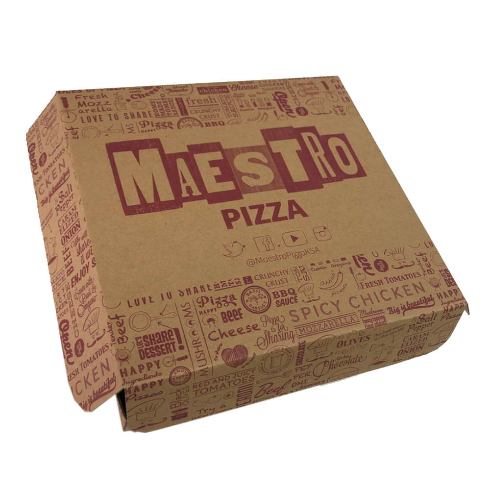 Manufacture sale brown craft pizza box for <strong>10</strong>,12,14 inch