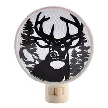 christmas decor acrylic deer forest led pulgl in straight night light