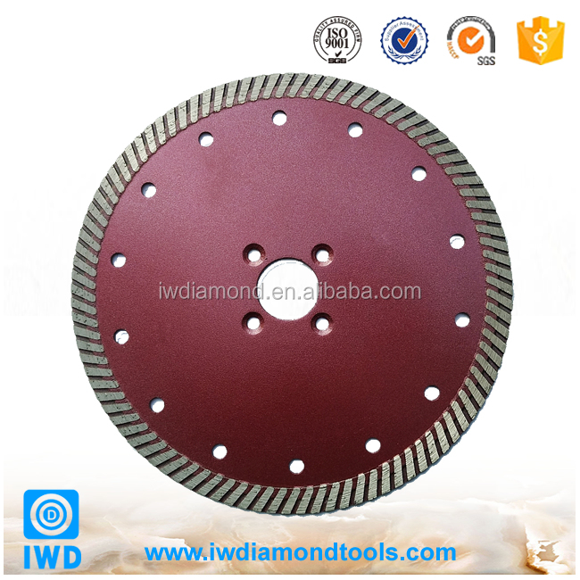 Cutting hard marble, granite, tile, brick and ceramic dry turbo blades
