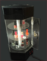 Rotating Clear Acrylic Countertop Lighted Display