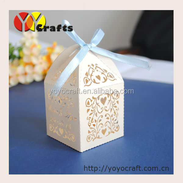 Cheap wedding decorations laser cut giveaways wedding favour box