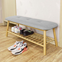 bamboo shoe rack display,bench with shoe rack underneath