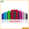 New PC holder+silicon shockproof protective hybrid case cover for IPAD Pro