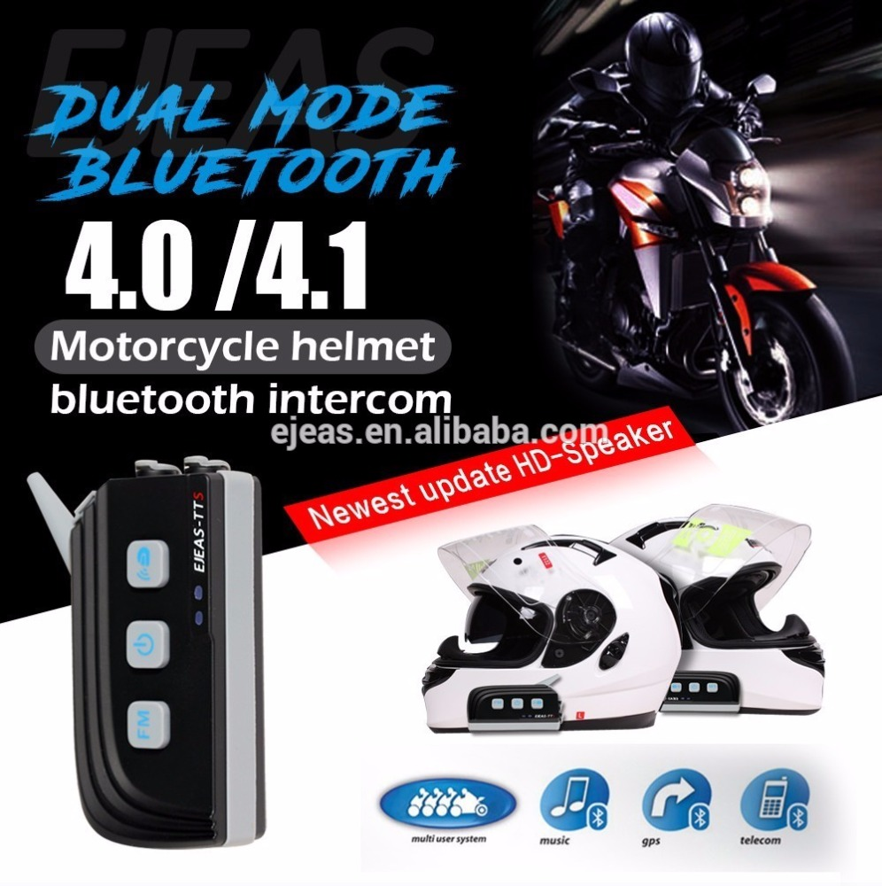 TTS the bluetooth intercom installed on the motorcycle helmet
