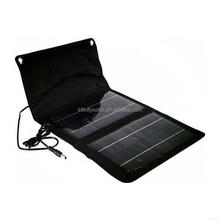 12W 18V Dual Output Waterproof Outdoor Foldable Solar Mobile Phone Charger Case With External 12V + 5V USB output