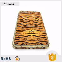 Cell phone pc pu phone case tiger skin leopard print frame factory price for iPhone 7