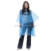 PE waterproof disposable cheap rain poncho/Advertising promotional transparent rain poncho