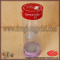 2015 Customized Clear Plastic Tube Packaging With Lids DH1014#