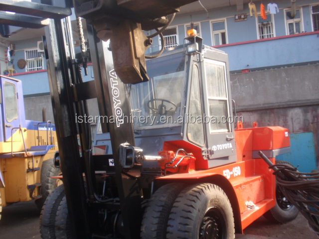 Toyota FD150 15T used forklift competitive price forkift for sale