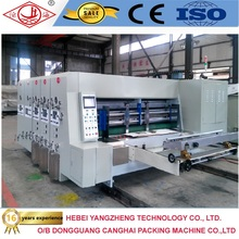 flexo carton box die cutting and color printing slotter packaging machines manufacturers corrugated carton box making prices