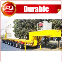 250 Ton Low Bed Semi Trailer/10 Modules Modular Semi Trailer For Large Equipement Transportation