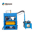 QT4-25 semi automatic stacker block making machine raw material concrete