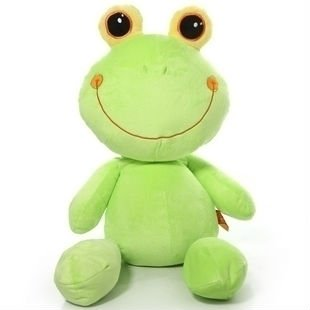 Colorful plush frog