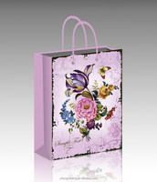 colorful printed shopping paper bag