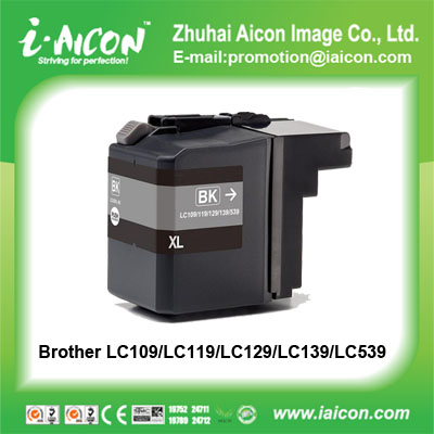 Computer printer ink cartridge for Borther LC109/LC119/L129/139/539