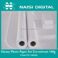 180gsm Waterproof High Glossy Photo Paper for solvent