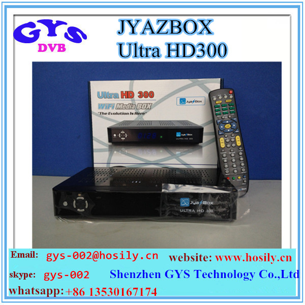 JYAZBOX HD300 Ultra HD Satellite TV Receiver With JB200 Wifi adapter Jynxbox Ultra 300 for north america