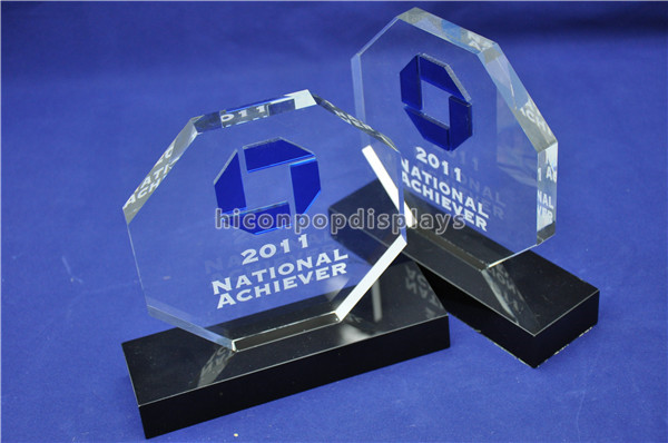 Custom design pure acrylic material stylish medal display stand