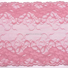 Golden Knit 20cm Width Pink Color Scalloped Sexy Lingerie Lace Trim JB022#