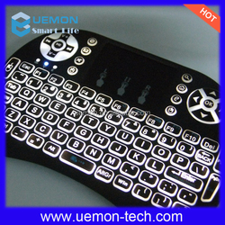 Simple easy to operate mini wireless keyboard i8 air fly mouse for android tv box.