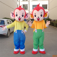China professional costume supplier adult curious george mascot costume