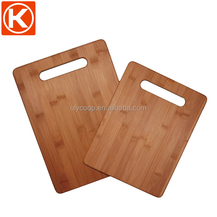 100% Bamboo 2 Piece Cutting Board Set Bamboo material