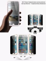 New Product! 0.30mm High clear privacy colour frame smart phone tempered glass screen protector for iphone 6s plus
